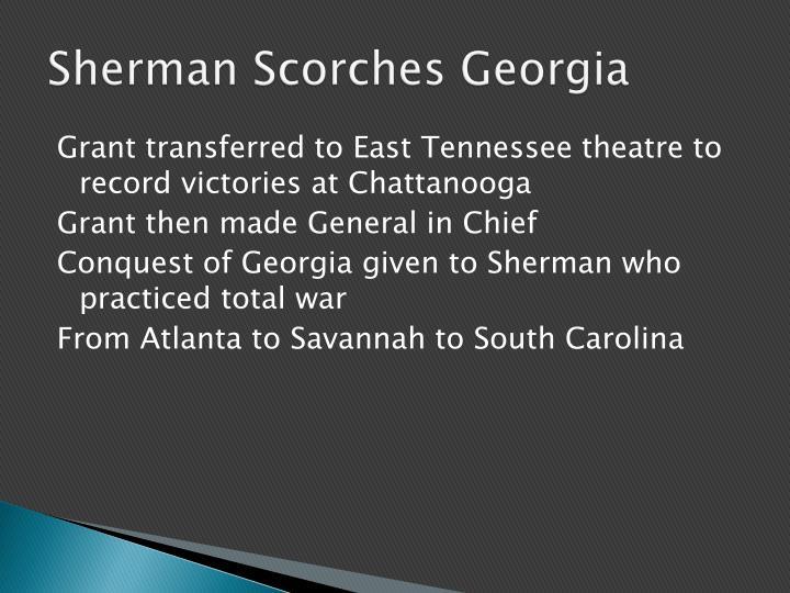 Sherman Scorches Georgia