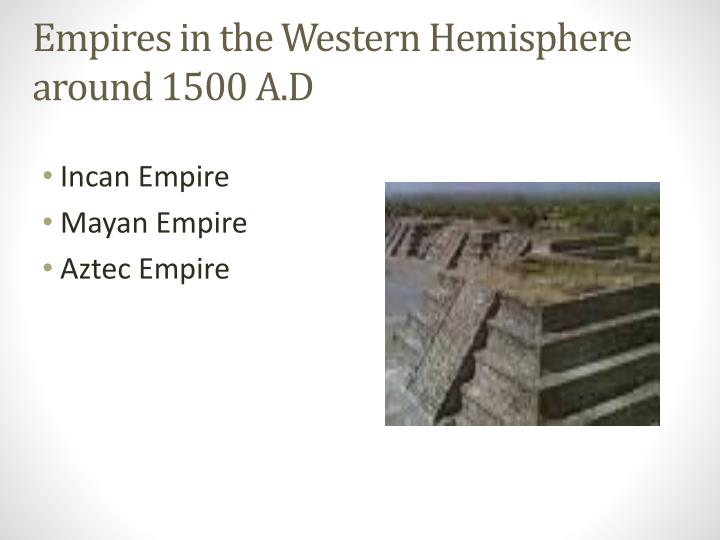 Empires in the Western Hemisphere around 1500 A.D