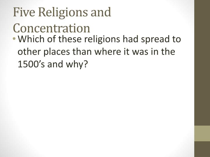 Five Religions and Concentration