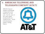 american telephone and telegraph company at t