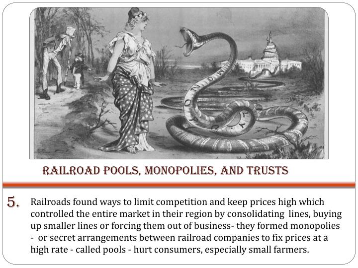 Railroad Pools, Monopolies, and Trusts