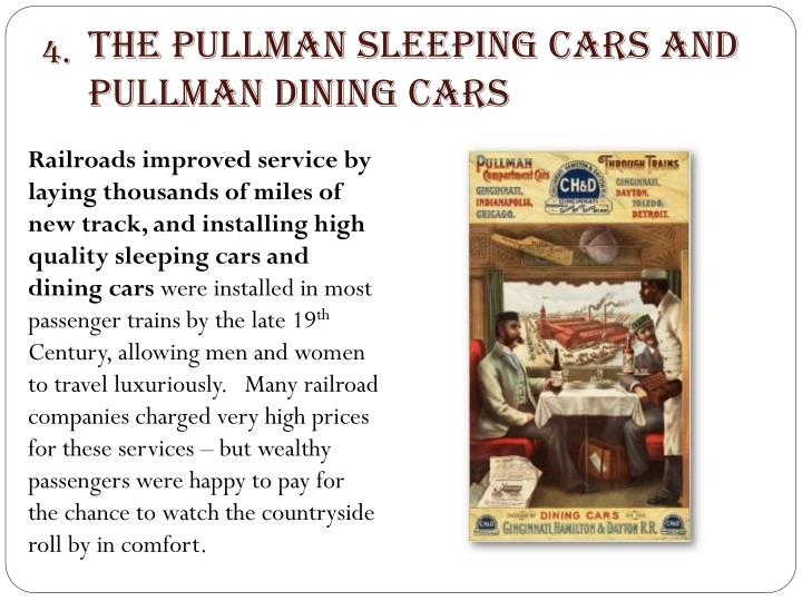 The Pullman Sleeping Cars and Pullman Dining Cars