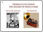 thomas alva edison the wizard of menlo park
