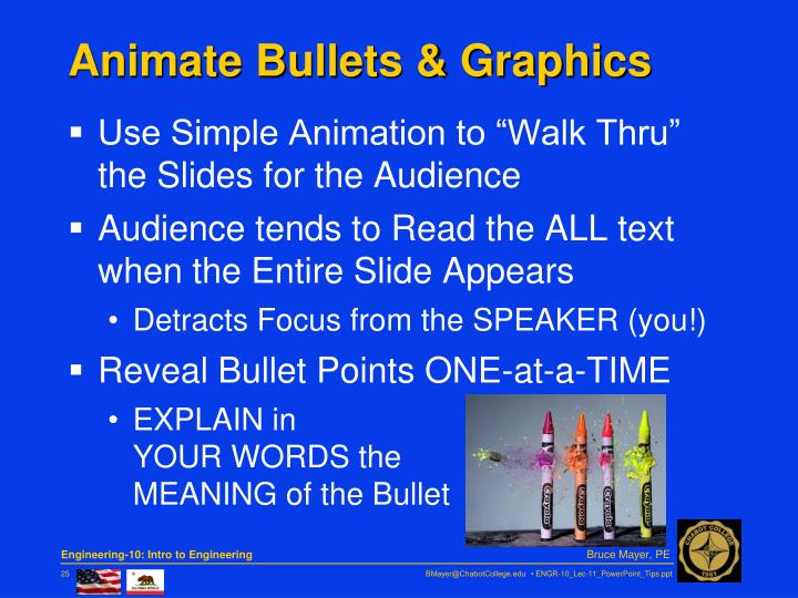 Animate Bullets & Graphics