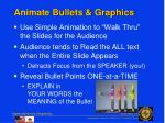 animate bullets graphics