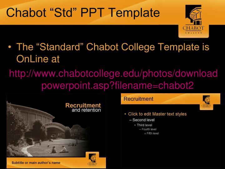 "Chabot ""Std"" PPT Template"