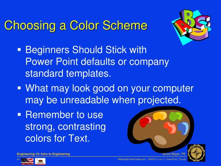 Choosing a Color Scheme