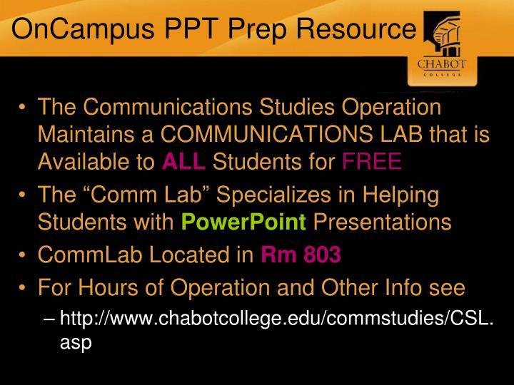 OnCampus PPT Prep Resource