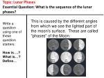 topic lunar phases essential question what is the sequence of the lunar phases9