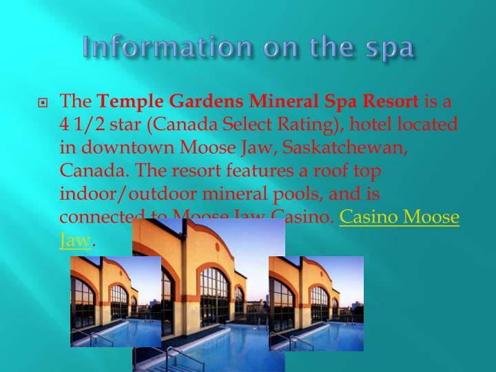 Information on the spa
