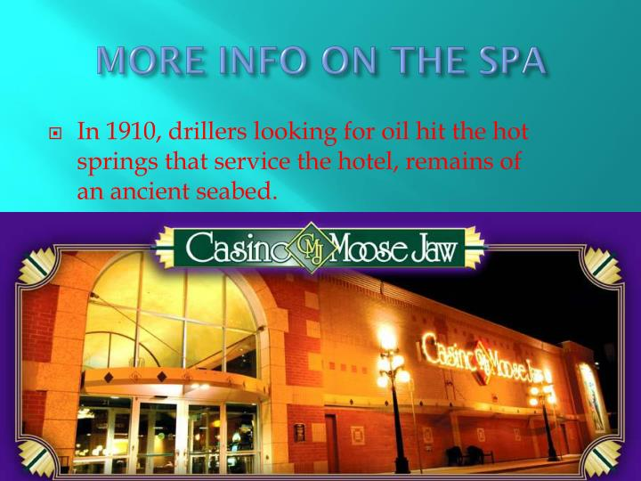 MORE INFO ON THE SPA