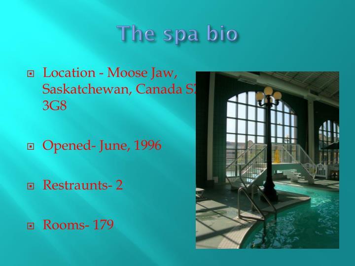 The spa bio