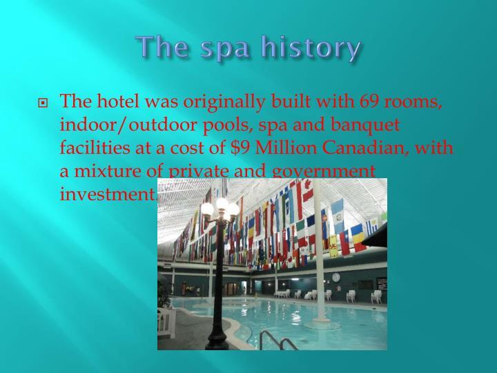 The spa history