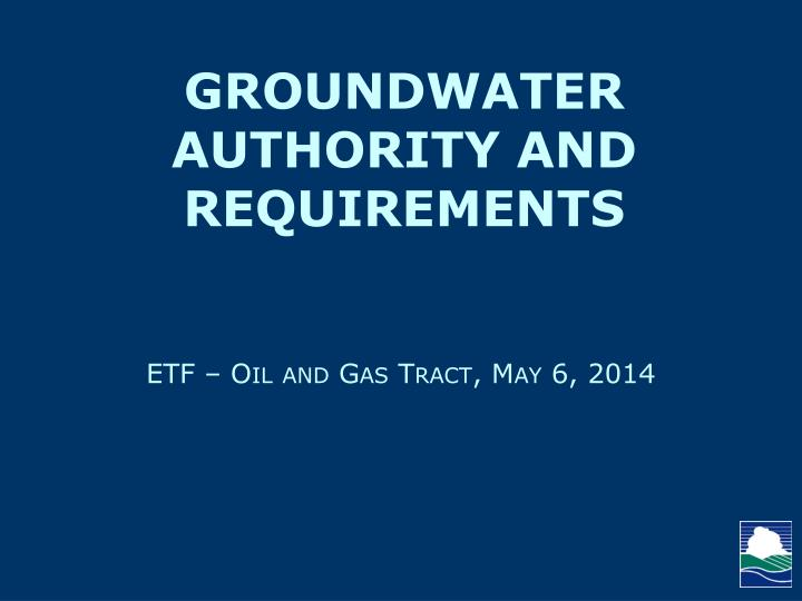 Etf oil and gas tract may 6 2014