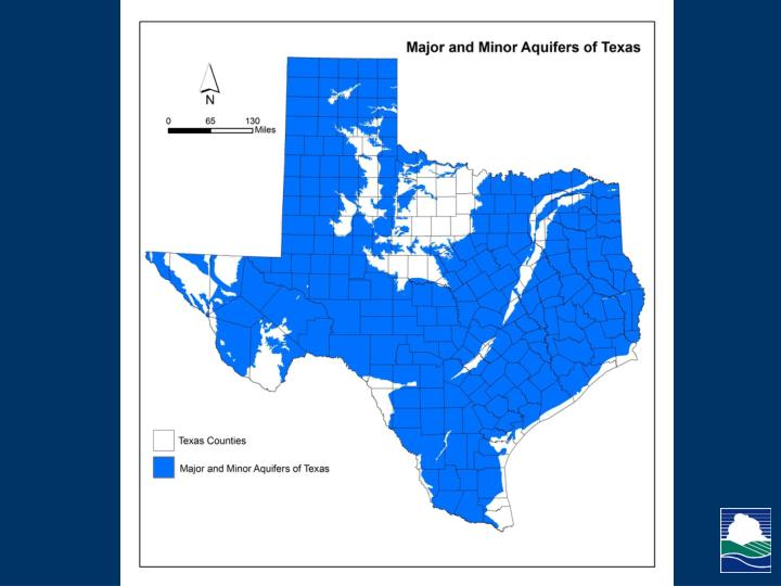 Major and Minor Aquifers of Texas
