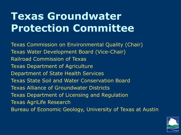 Texas Groundwater Protection Committee