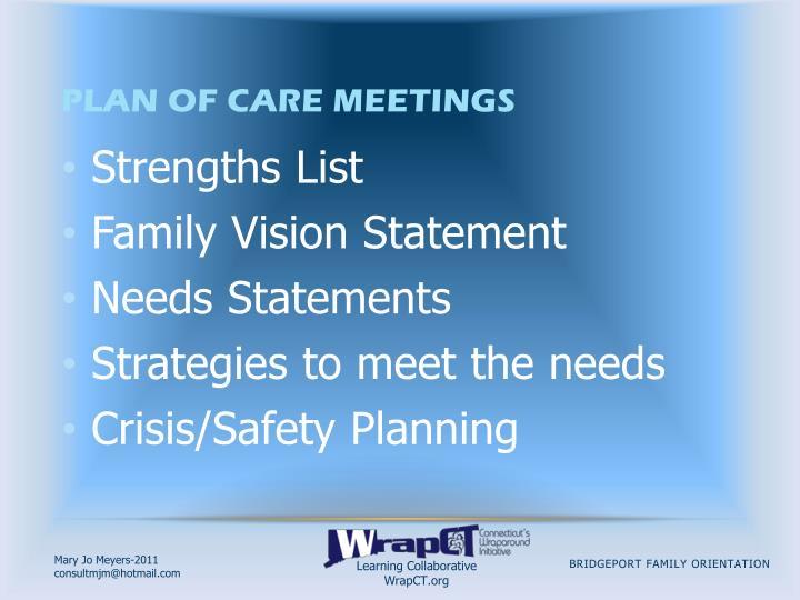 Plan of Care Meetings