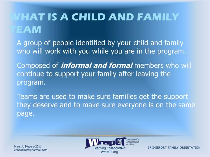 What is a Child and Family Team