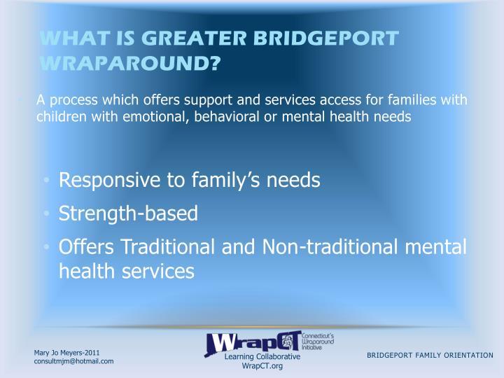 What is Greater Bridgeport Wraparound?