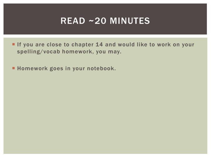 Read ~20 minutes