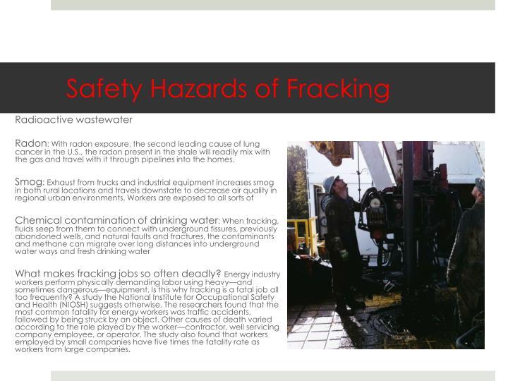 Safety Hazards of Fracking