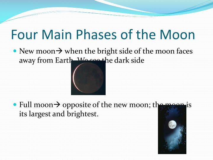 Four Main Phases of the Moon