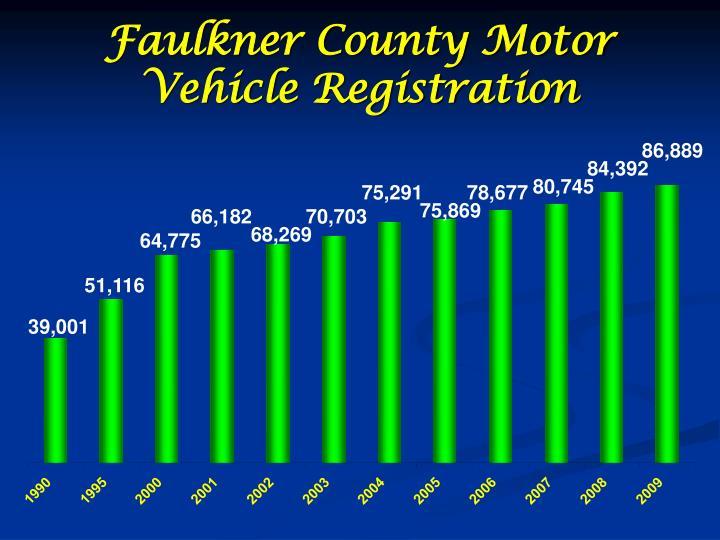 Faulkner County Motor Vehicle Registration
