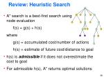 review heuristic search