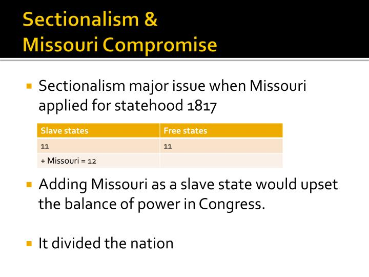 Sectionalism &