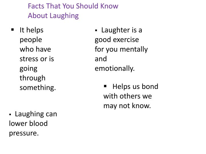 Facts That You Should Know About Laughing