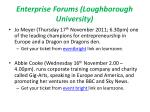 enterprise forums loughborough university