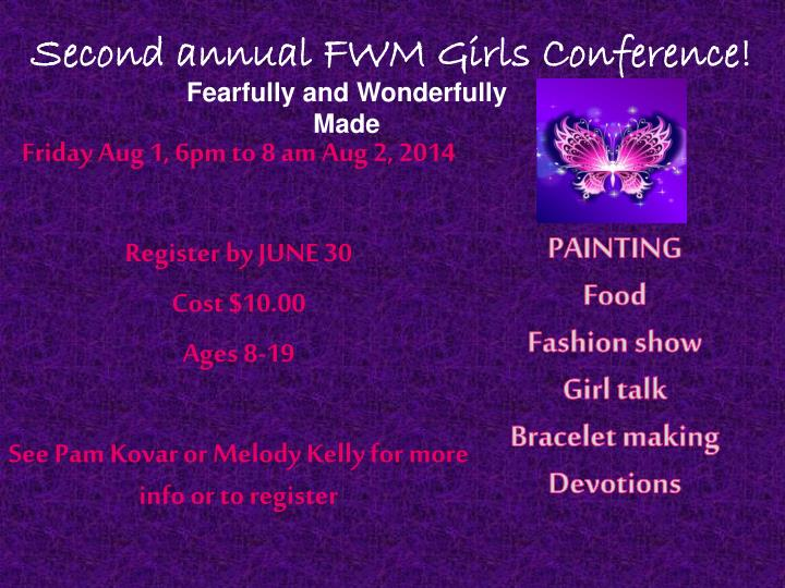 second annual fwm girls conference
