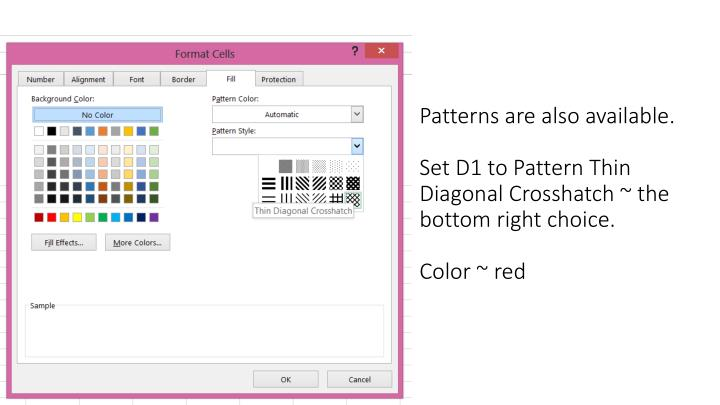 Patterns are also available.