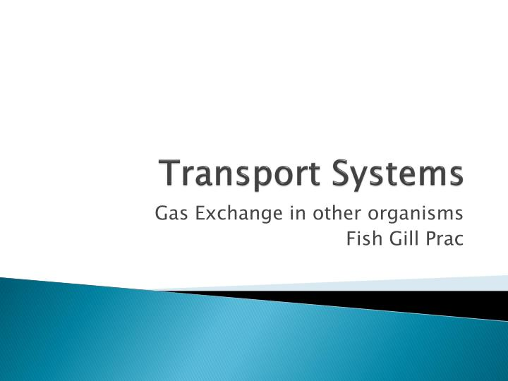 transport systems