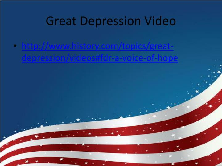 Great Depression Video