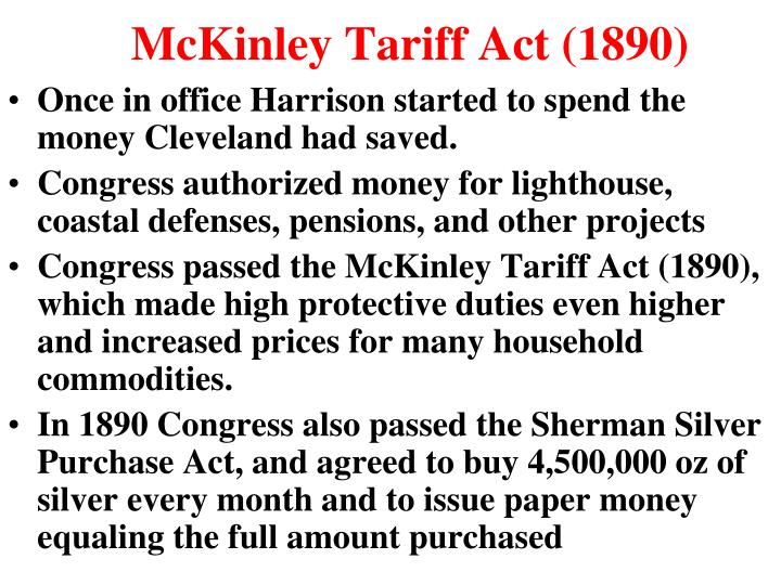 McKinley Tariff Act (1890)