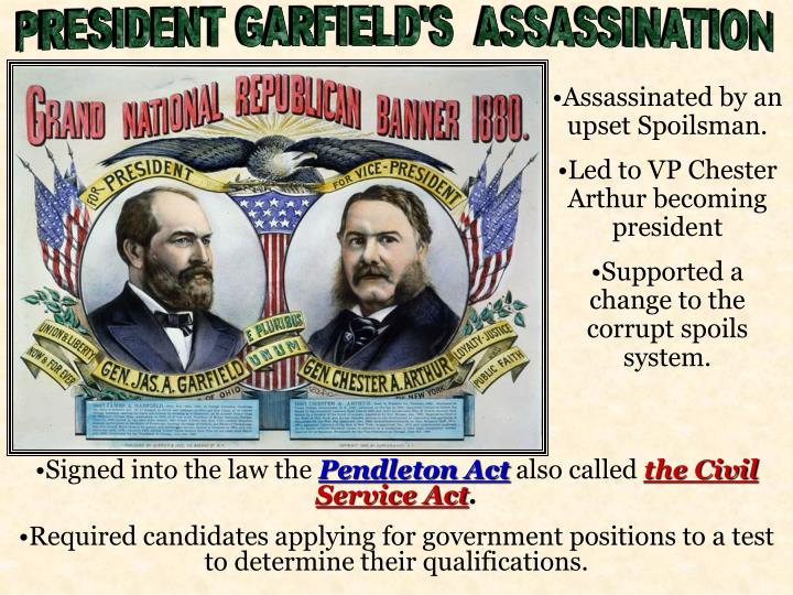 PRESIDENT GARFIELD'S  ASSASSINATION