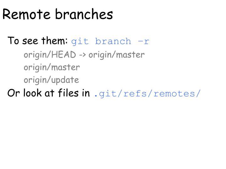 Remote branches