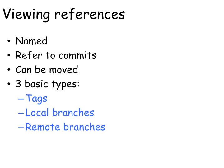 Viewing references