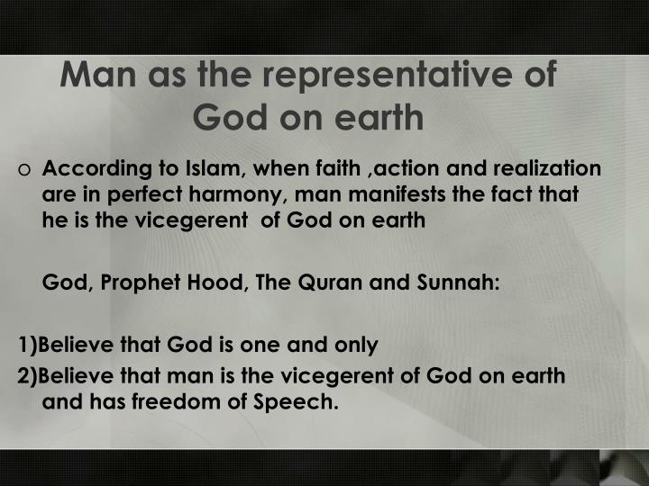 Man as the representative of God on earth