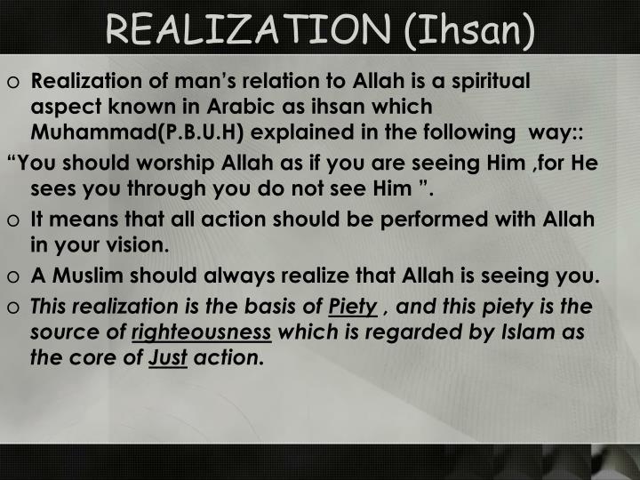 REALIZATION (