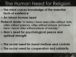 the human need for religion