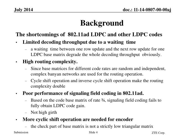The shortcomings of  802.11ad LDPC and other LDPC codes