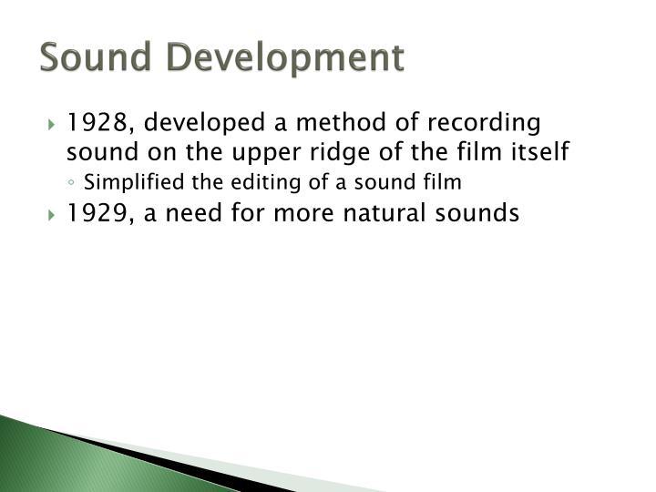 Sound Development