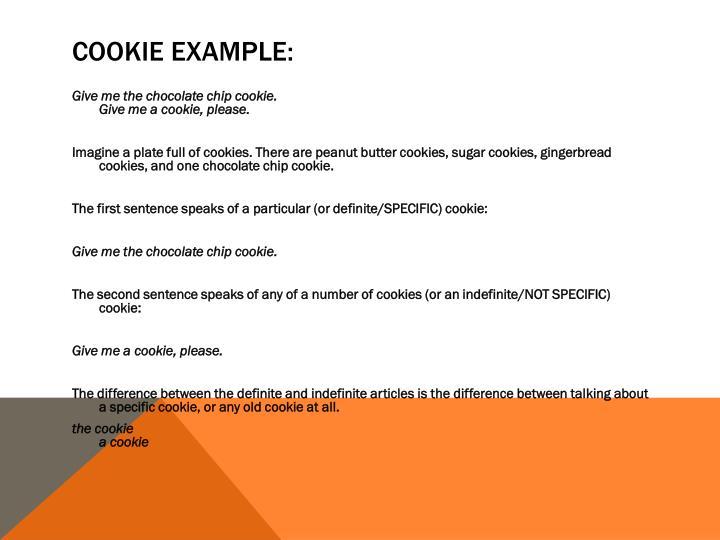 Cookie example: