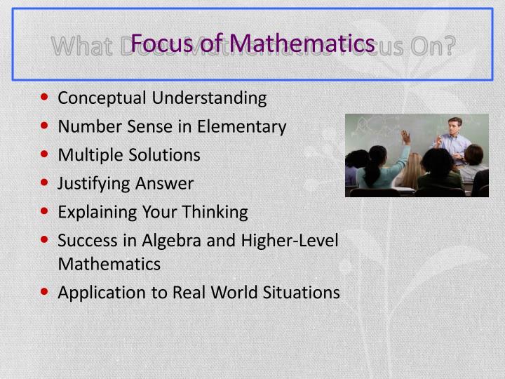 Focus of Mathematics
