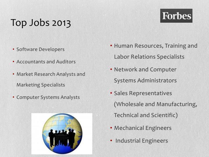 Top Jobs 2013