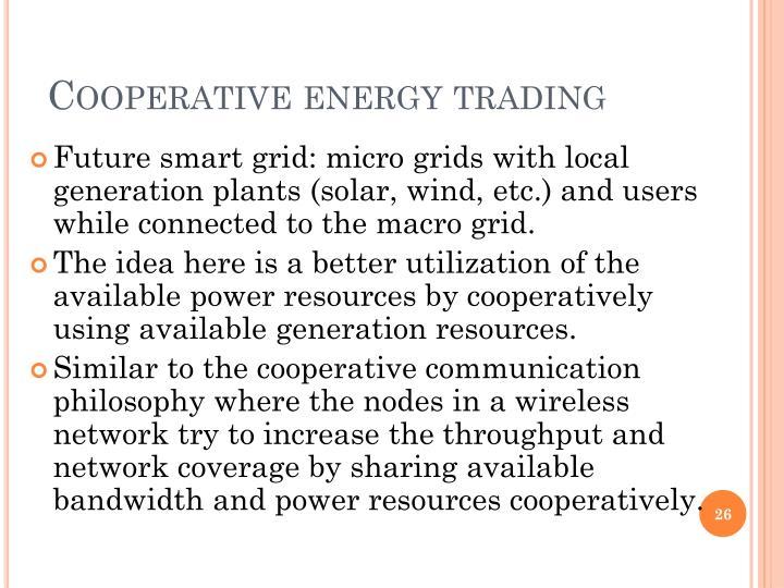 Cooperative energy trading