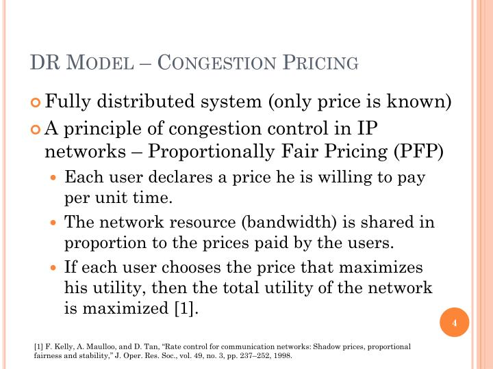 DR Model – Congestion Pricing