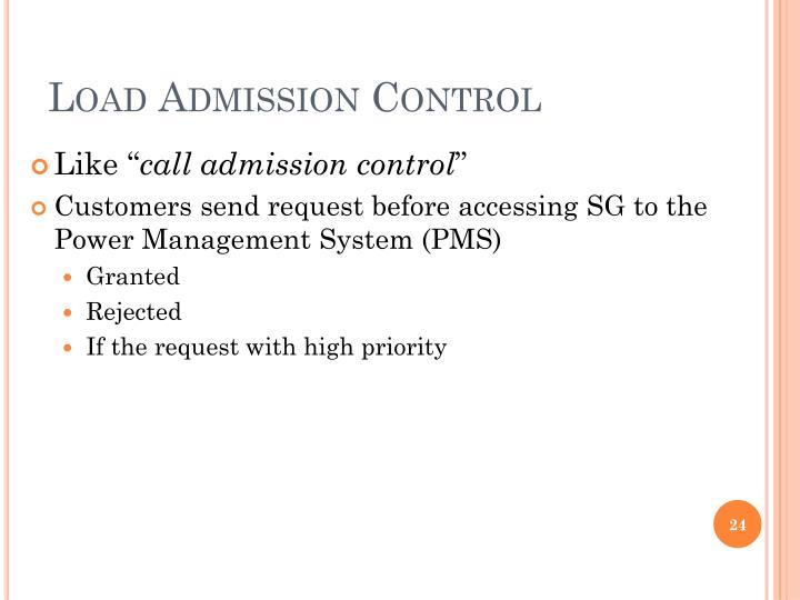 Load Admission Control